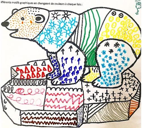 graphisme l'ours polaire
