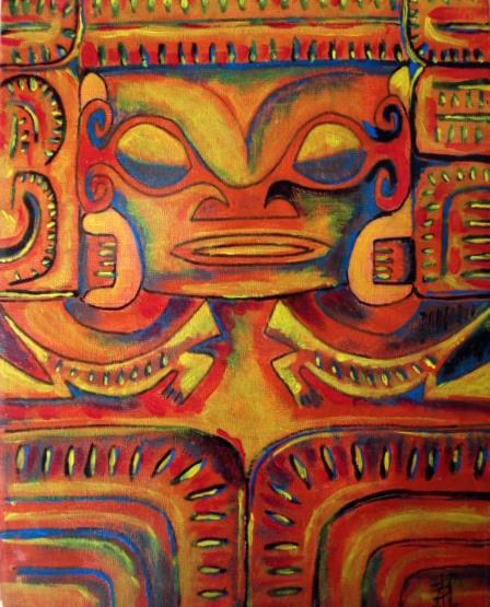 Acrylique sur toile 30 x 24    120€