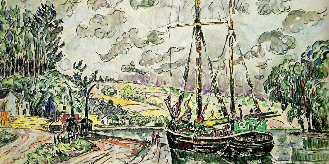 Morlaix 4 /  La rivière de Morlaix- Signac 1927