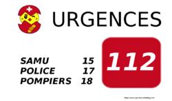 Un affichage pour les urgences