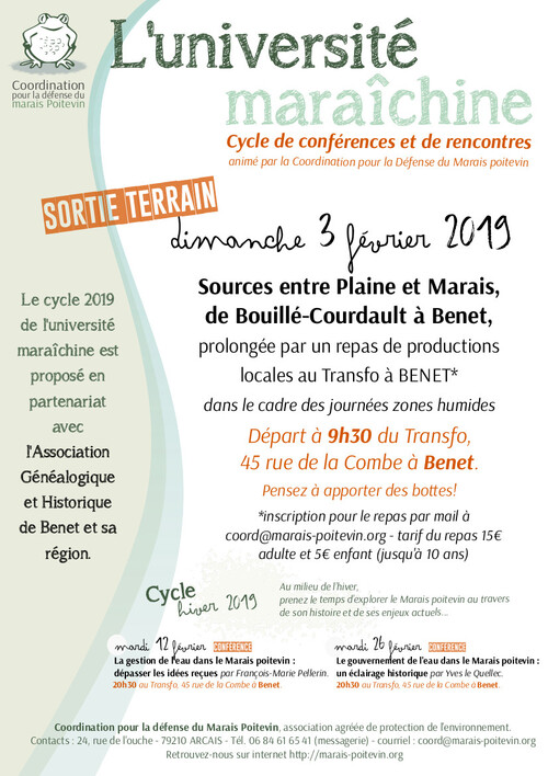 Le programme de l'Université maraîchine (Marais Poitevin)
