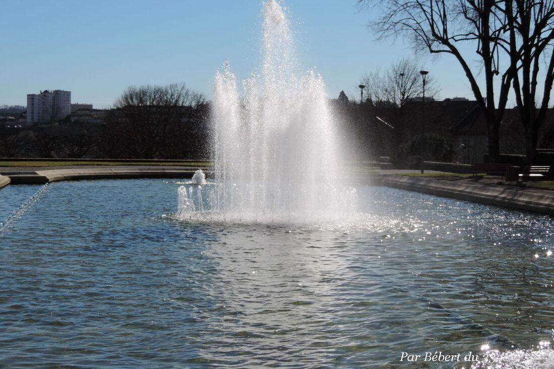 les jets d'eau à Limoges