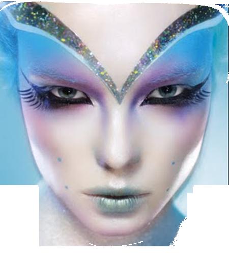 Maquillage en bleu
