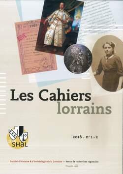 Parution dans les Cahiers lorrains (2016-1/2)