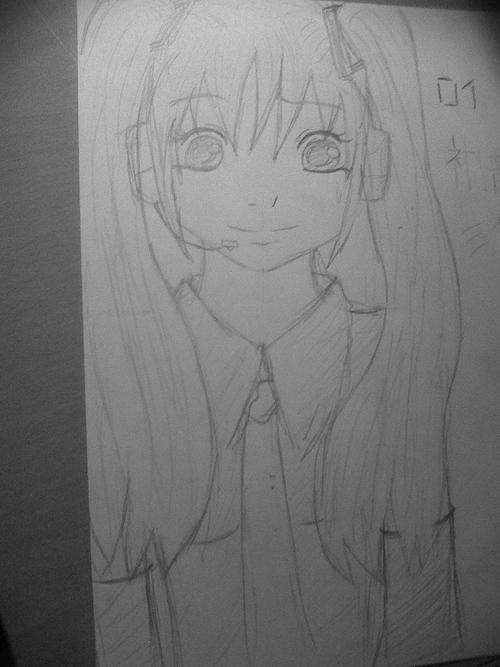 Fan-art Miku Hatsune. (sans modèle)