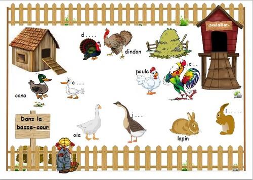 Les animaux de la ferme (planche à découper)