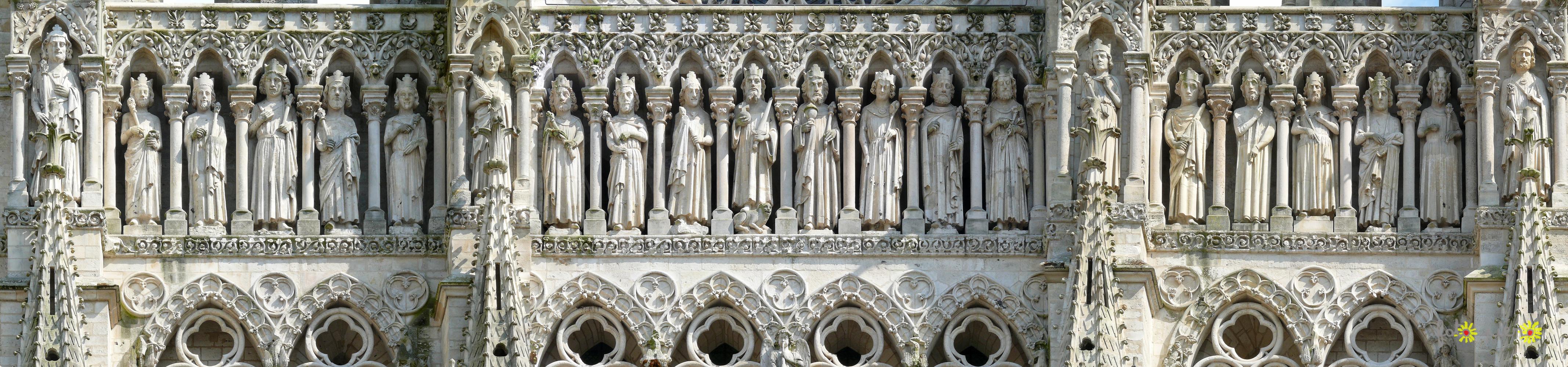 La galerie des rois, cathèdrale d'Amiens.