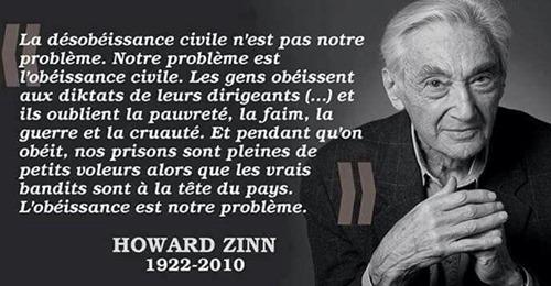 Image : Howard Zinn | Désobéissance civile, Pauvreté, Belles citations