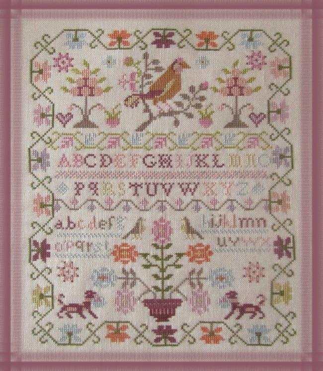 Pink Sparrow Sampler terminé