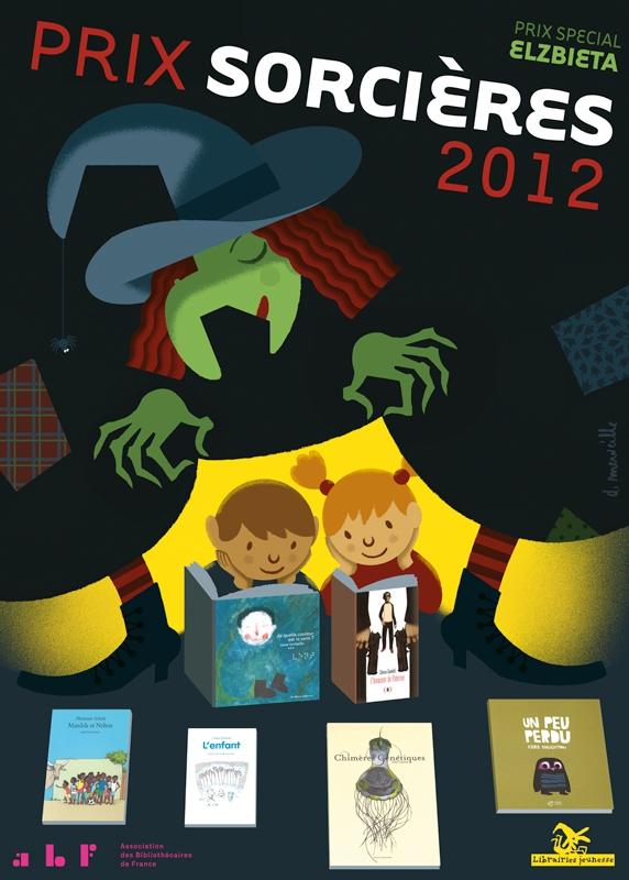 L'affiche de David Merveille - Prix Sorcières 2012