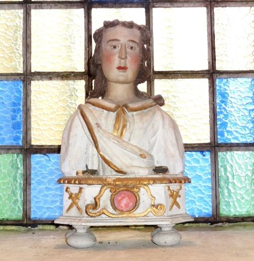 Bustes-reliquaires dans des églises Châtillonnaises..