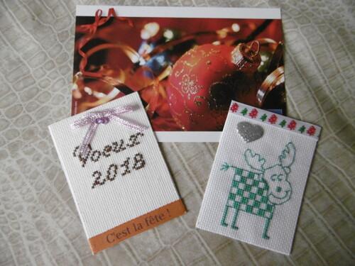 """Echange ATC """"Noël et  Bonne année"""""""