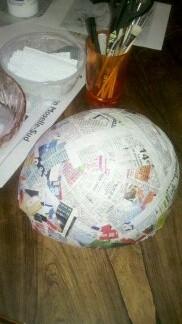 MASKEMANE de DOFUS (support ballon de baudruche ,papier mâché)