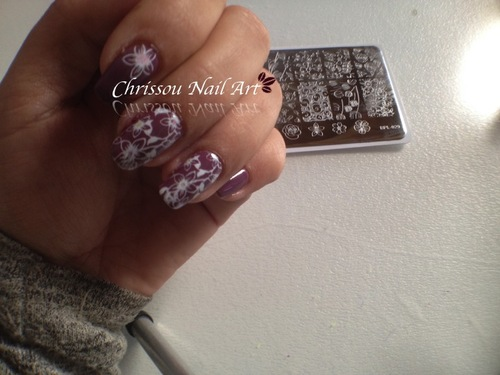 Stamping fleurie
