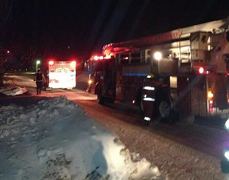 Pompiers de Lambton: 2 interventions à composer avec le feu et le froid en moins de 12hrs