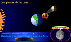 Animation flash : les phases de la lune