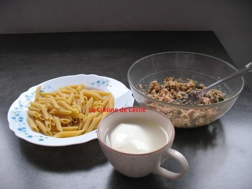 Penne au thon et à la mozzarella
