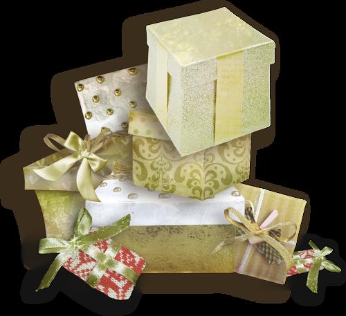 Tubes cadeaux de Noël en png