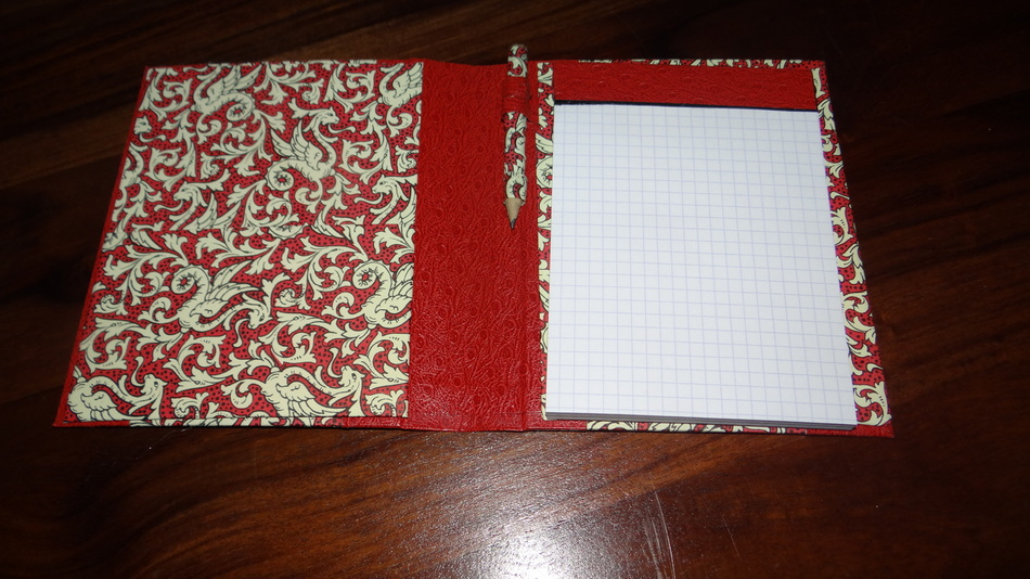 Cartonnage : Carnet bloc-Notes ..