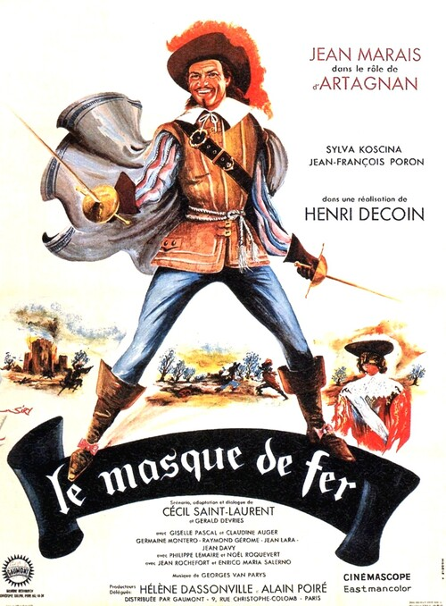 LE MASQUE DE FER - BOX OFFICE JEAN MARAIS 1962