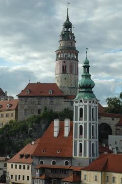 la tour ronde  et église saint juste  Cesky Krumlov (46)