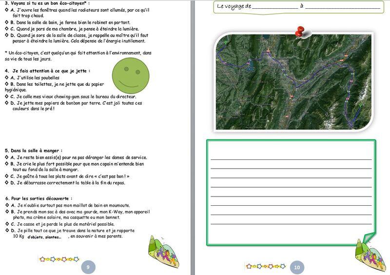 gestion de classe : carnet de classe découverte