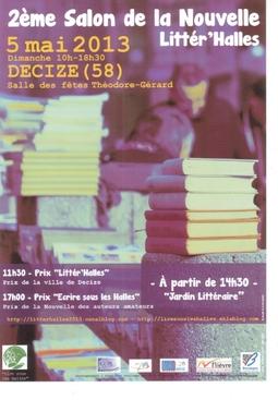 Salon Littér'Halles 2013 : Prix de la Nouvelle de la Ville de Decize