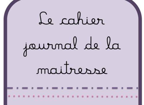 couverture cahier journal