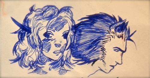 Le miracle du stylo plume à encre bleu.