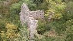 ruines bâtiment au bord du gouffre (70m profondeur)