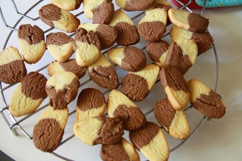 Biscuits bicolores et division