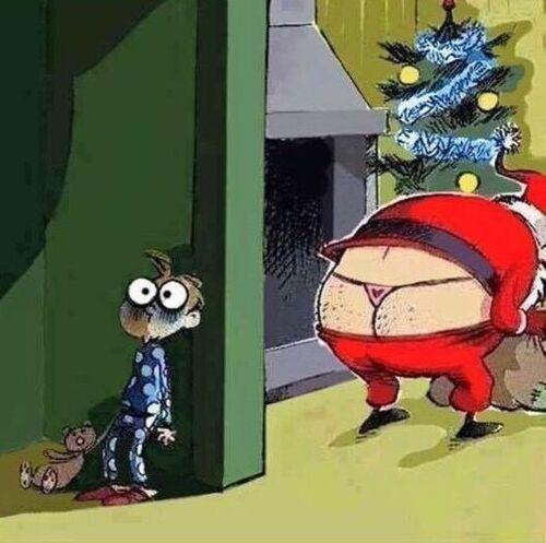 Je ne me voyais pas le Père Noël comme cela !!!!