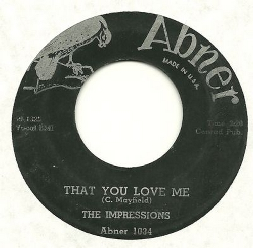 1959 et 1960 : Single Abner Records 1034 [ US ]