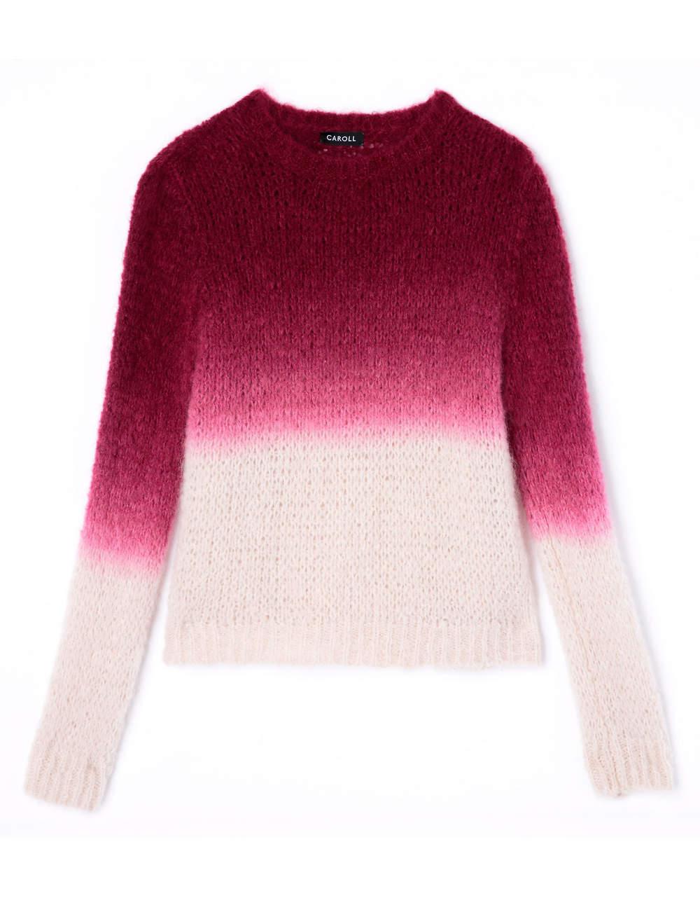 Pull en maille, en laine mélangée, Caroll, 119€.