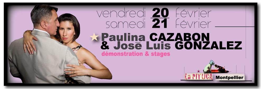 ★ Ce vend. 20 fév P. CAZABON J.L. GONZALEZ en démo à La PITUCA stages samedi 21 ★