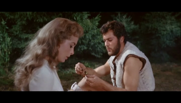 JANET LEIGH ET TONY CURTIS  - LES VIKINGS