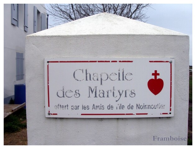 Chapelle des martyrs à Noirmoutier