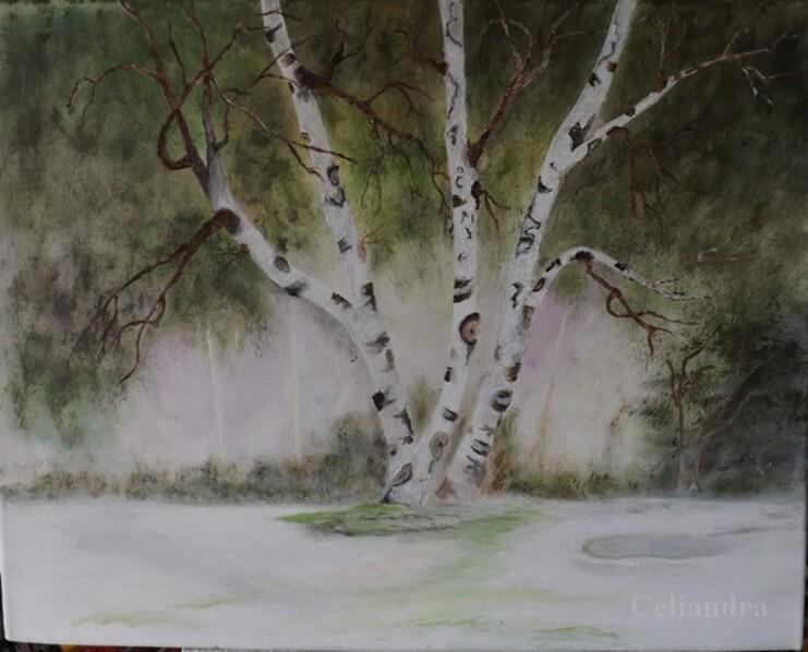 peinture.. Paysageréel ou....