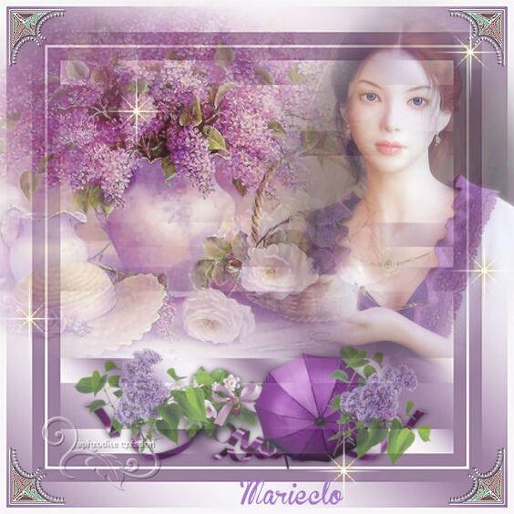 Les Clusters de MarieClo - Thème le lilas