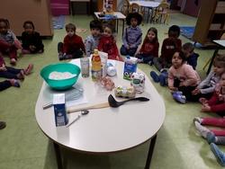 Nous avons fait des crêpes.