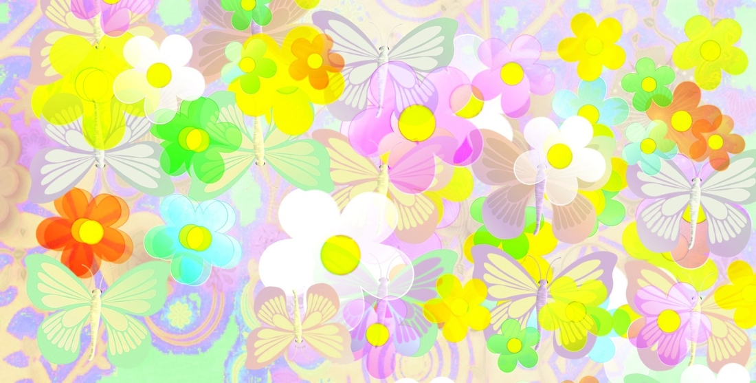 Grandes textures  pastel petites fleurs