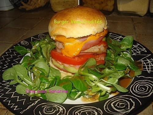Burger Veau Crudités 6