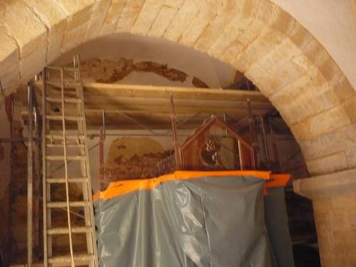 Les travaux ont commencé dans l'église