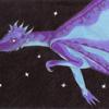 dragon bleu - 2011 - 21x29,7 - crayons de couleur de feutres