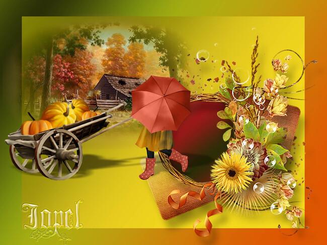 Défi N ° 0 1 créer créer ... avec Cluster couleur d'automne chez Yolie par Jopel