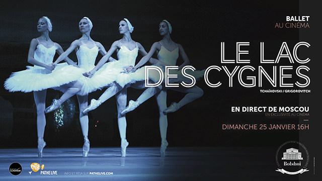 Le Lac des Cygnes par le Bolchoi de Moscou [Cinéma/Ballet]