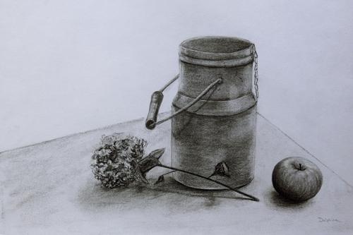 Crayon, crayon de couleur, fusain