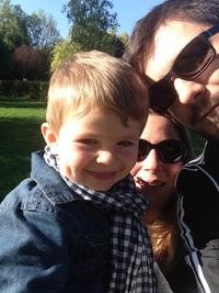 Mon petit fils Raphaël et mon fils Sébastien