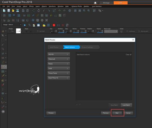 Képek csoportos átalakítása Corel PSP -ben