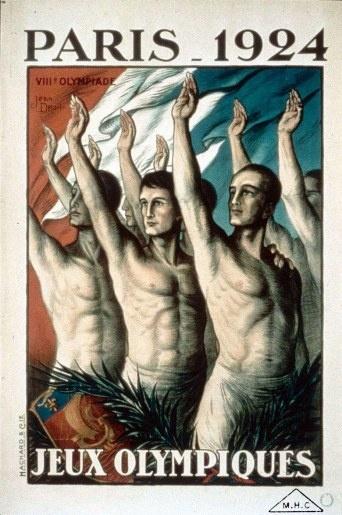 1924 JO affiche Bien entendu il s'agit du salut olympique...
